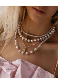SELFIE JEWELLERY - Naszyjnik z perłami Pearl Sky. Materiał: z mosiądzu. Kolor: biały. Kamień szlachetny: perła