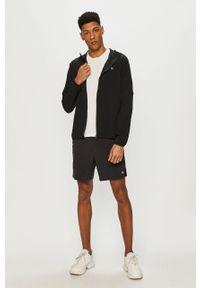 Czarna kurtka Calvin Klein Performance casualowa, z kapturem, na co dzień, gładkie