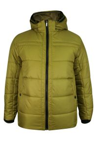 Złota kurtka Zanardi Trade na zimę, z kapturem