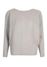 TOP SECRET - Sweter z kimonowym rękawem. Kolor: szary. Długość: długie. Sezon: wiosna
