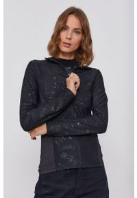 Desigual - Bluza. Kolor: czarny. Materiał: dzianina