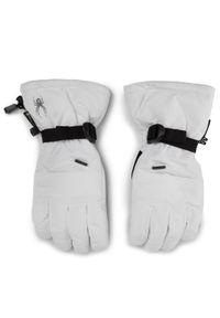 Białe rękawiczki sportowe Spyder narciarskie