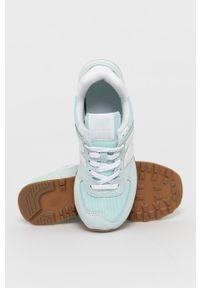 Turkusowe sneakersy New Balance z cholewką, z okrągłym noskiem