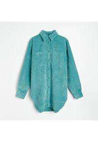 Reserved - Sztruksowa koszula - Khaki. Kolor: brązowy. Materiał: sztruks