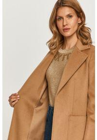 Beżowy płaszcz MAX&Co. klasyczny, bez kaptura