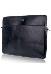 Czarne etui na laptopa Solier eleganckie