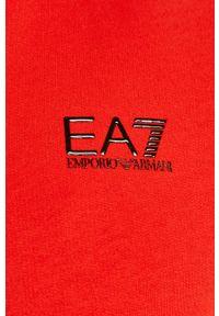 EA7 Emporio Armani - Bluza. Okazja: na co dzień. Typ kołnierza: kaptur. Kolor: czerwony. Styl: casual