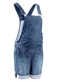 Niebieskie jeansy bonprix krótkie, na lato, moda ciążowa