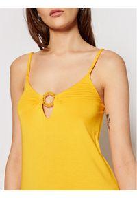 Emporio Armani Sukienka letnia 262483 1P315 03862 Żółty Regular Fit. Kolor: żółty. Sezon: lato