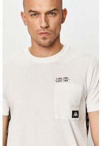 Biały t-shirt Kappa z aplikacjami, na co dzień, casualowy