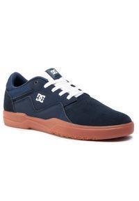 Niebieskie sneakersy DC na co dzień, z cholewką