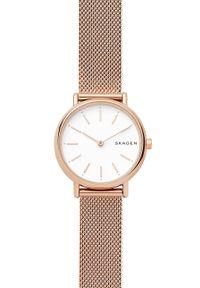 Skagen - Zegarek SKW2694. Kolor: złoty. Materiał: skóra, materiał