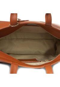 Brązowa torebka klasyczna Trussardi Jeans klasyczna