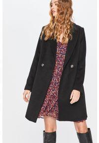 Czarny płaszcz ANSWEAR bez kaptura, wakacyjny, na co dzień