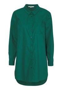 Cellbes Długa koszula z bio bawełny ciemnozielony female zielony 46/48. Kolor: zielony. Materiał: bawełna. Długość: długie