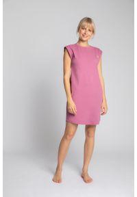 e-margeritka - Sukienka bawełniana mini bez rękawów - m. Okazja: na co dzień. Materiał: bawełna. Długość rękawa: bez rękawów. Typ sukienki: proste. Styl: casual. Długość: mini