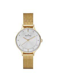 Złoty zegarek Skagen casualowy