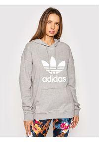 Adidas - adidas Bluza adicolor Trefoil H33589 Szary Regular Fit. Kolor: szary