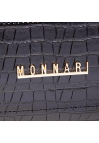 Monnari - Torebka MONNARI - BAG1240-020 Black 2021. Kolor: czarny. Materiał: skórzane. Styl: klasyczny