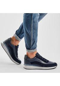 Geox - Sneakersy GEOX - U Dennie A U920GA 02285 C4002 Navy. Okazja: na co dzień. Kolor: niebieski. Materiał: zamsz, skóra ekologiczna, skóra. Szerokość cholewki: normalna. Styl: casual, klasyczny, sportowy