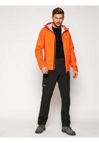 Pomarańczowa kurtka przeciwdeszczowa Salewa