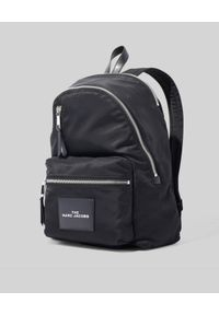 THE MARC JACOBS - Czarny plecak The Zipper Backpack. Kolor: czarny. Materiał: materiał. Wzór: aplikacja