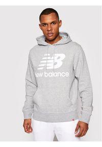New Balance Bluza Essentials Stacked Logo Po MT03558 Szary Athletic Fit. Kolor: szary