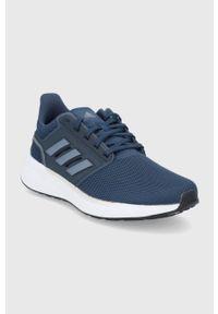 Adidas - adidas - Buty EQ19 Run. Nosek buta: okrągły. Zapięcie: sznurówki. Kolor: niebieski. Model: Adidas Cloudfoam. Sport: bieganie