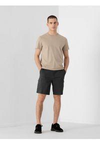 4f - Spodenki męskie. Kolor: szary. Materiał: elastan, bawełna, materiał. Sezon: lato