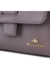 Wittchen - Kuferek skórzany z ozdobną klapą mały. Kolor: fioletowy. Materiał: skórzane. Styl: elegancki, casual. Rodzaj torebki: do ręki