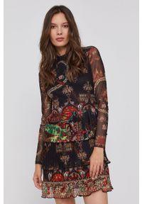 Desigual - Sukienka x Monsieur Christian Lacroix. Długość rękawa: długi rękaw. Typ sukienki: rozkloszowane