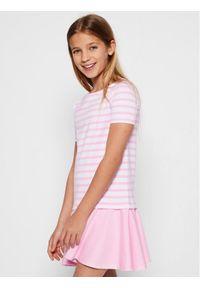 Różowa sukienka Polo Ralph Lauren na co dzień, polo, prosta, casualowa