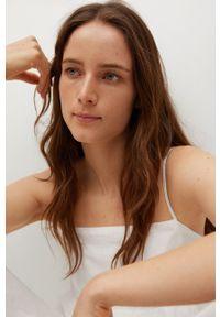 mango - Mango - Sukienka CECI. Kolor: biały. Materiał: włókno, tkanina, materiał. Długość rękawa: na ramiączkach. Typ sukienki: rozkloszowane