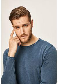 Only & Sons - Sweter. Okazja: na co dzień. Kolor: niebieski. Materiał: dzianina, materiał. Wzór: gładki. Styl: casual