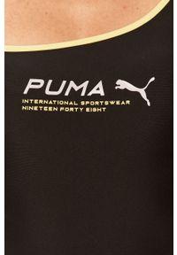 Czarny top Puma na co dzień, na ramiączkach