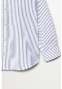 Niebieska koszula Mango Kids długa, z klasycznym kołnierzykiem, z długim rękawem, klasyczna