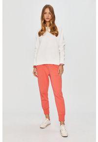 Polo Ralph Lauren - Bluza. Typ kołnierza: polo. Kolor: biały. Materiał: dzianina. Wzór: aplikacja