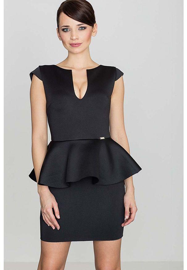 Czarna sukienka wieczorowa Katrus baskinka