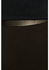 Czarne legginsy Vila gładkie, z podwyższonym stanem