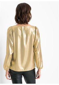 Złota bluzka bonprix