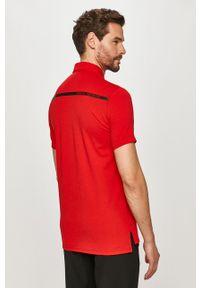 Czerwona koszulka polo Armani Exchange krótka, na co dzień, casualowa, polo