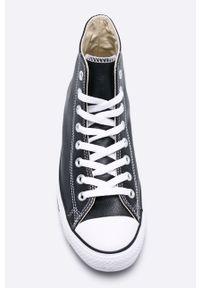 Czarne wysokie trampki Converse na sznurówki, z cholewką, z okrągłym noskiem