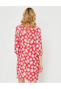 Czerwona sukienka mini MOSCHINO w kwiaty