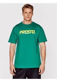 Prosto. - PROSTO. T-Shirt 1133 Zielony Regular Fit. Kolor: zielony