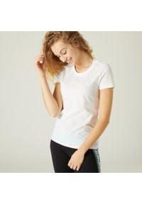 Adidas - Koszulka krótki rękaw fitness. Materiał: materiał, bawełna. Długość rękawa: krótki rękaw. Długość: krótkie. Sport: fitness