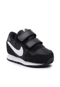 Nike - Buty NIKE - Md Valiant (Tdv) CN8560 002 Black/White. Okazja: na uczelnię, na co dzień. Zapięcie: rzepy. Kolor: czarny. Materiał: skóra, zamsz, materiał. Szerokość cholewki: normalna. Styl: casual
