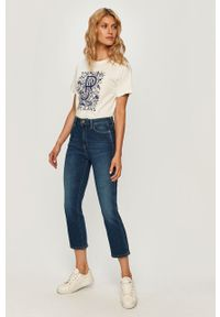 Niebieskie jeansy Pepe Jeans z podwyższonym stanem #4