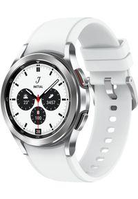 SAMSUNG - Smartwatch Samsung Galaxy Watch 4 Classic Stainless Steel 42mm Szary (SM-R880NZSAEUE). Rodzaj zegarka: smartwatch. Kolor: szary
