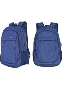 Beniamin Plecak młodzieżowy Basic granatowy usb. Kolor: niebieski. Styl: młodzieżowy