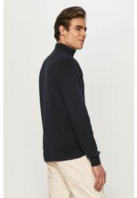 TOMMY HILFIGER - Tommy Hilfiger - Sweter. Okazja: na co dzień. Kolor: niebieski. Materiał: dzianina, bawełna. Długość rękawa: długi rękaw. Długość: krótkie. Styl: casual